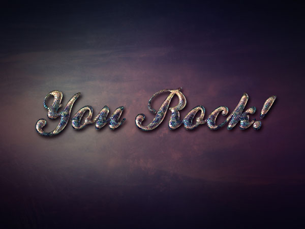 How to Create an Iridescent Snake-Textured Text Effect in Adobe Photoshop