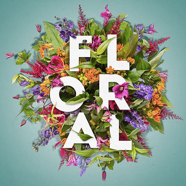 How To Create A Layered Floral Typography Text Effect In