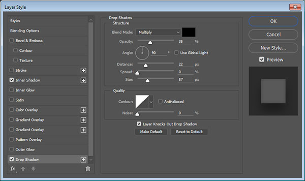 how to add a shadow to text in photoshop
