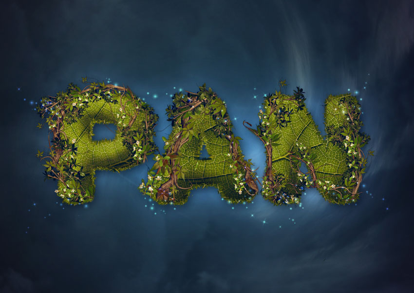 How to Create a Nature-Inspired Peter Pan Text Effect in Adobe Photoshop