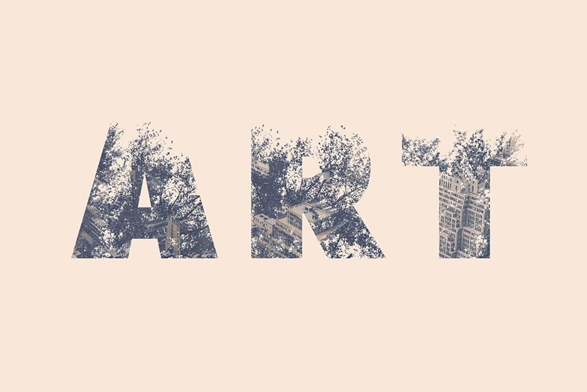 Double exposure typeface