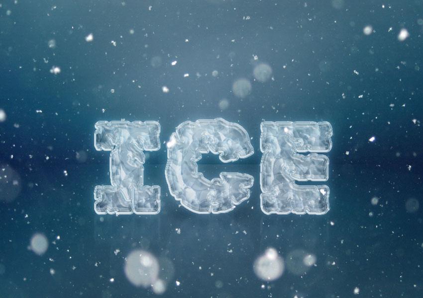 Tạo hiệu ứng chữ Ice (băng tuyết) trong Photoshop