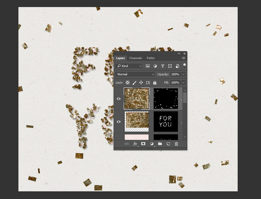How to Create a Simple Wedding Confetti Text Effect in Adobe Photoshop