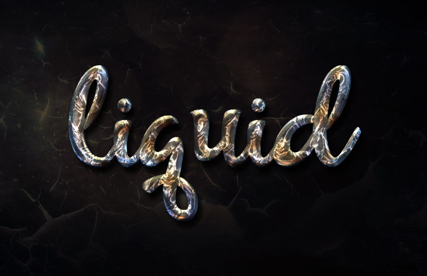 How to Create a Super Easy Liquid Metal Text Effect in ...