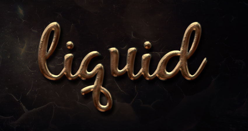 How to Create a Super Easy Liquid Metal Text Effect in Adobe Photoshop