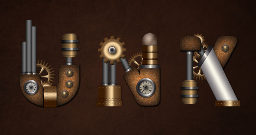 How to Create a Steampunk Inspired Text Effect in Adobe Photoshop
