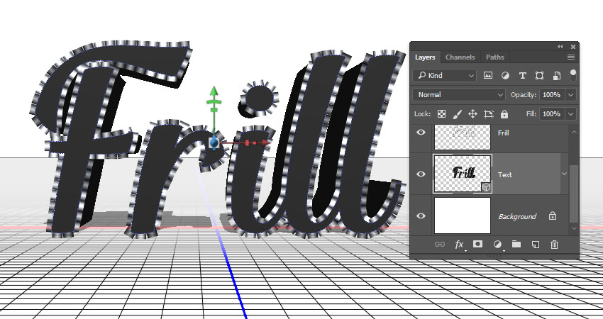 How to Create an Inflated 3D Frilly Text Effect in Adobe Photoshop