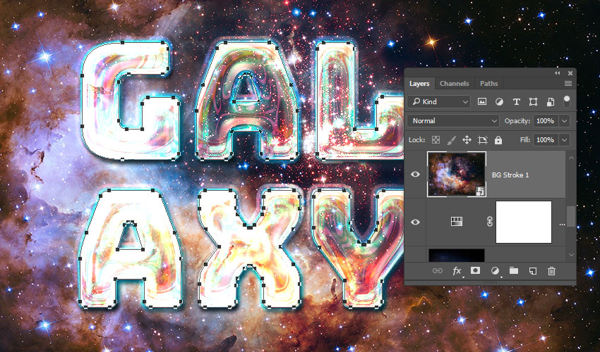 How to Create a Galaxy Text Effect in Adobe Photoshop