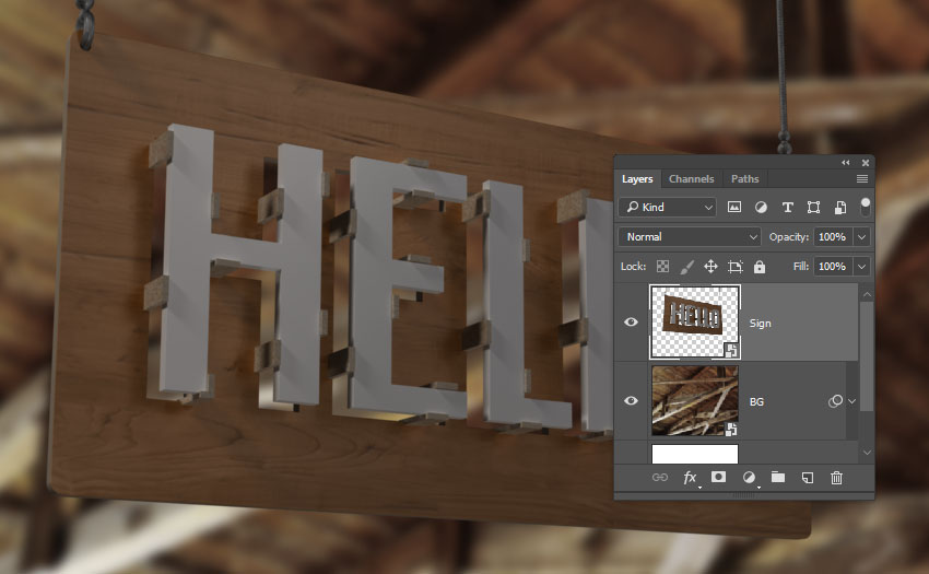 How to Create a 3D Warehouse Sign Text Effect