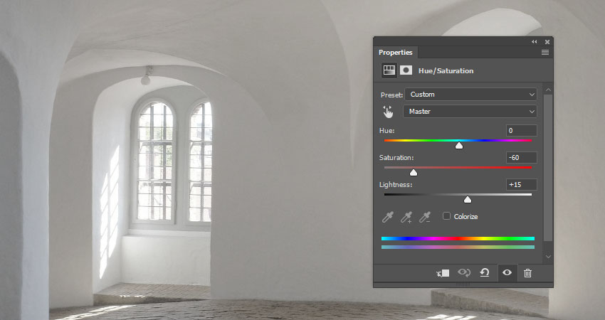 Hue and Saturation Adjustment Layer