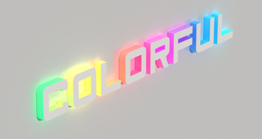 How to Create a 3D Colorful Illuminated Text Effect in Adobe Photoshop