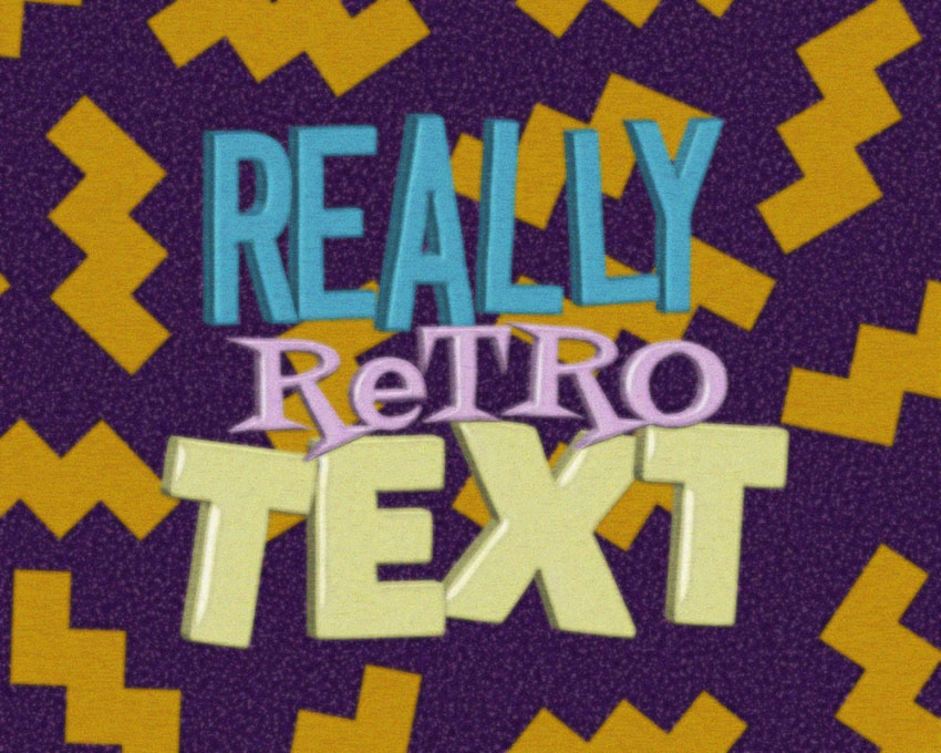how to create a retro saved by the bell inspired text