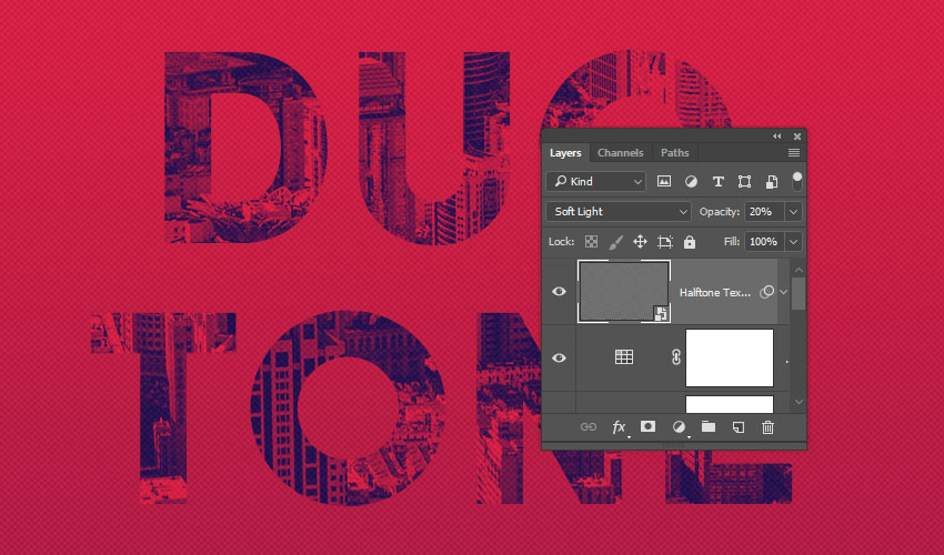 Halftone Texture Layer Settings