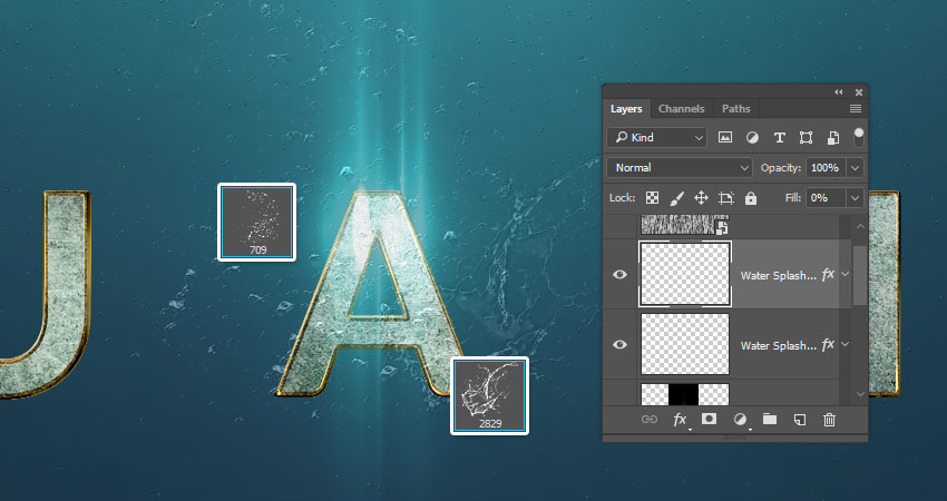 Add Water Splash Brushes