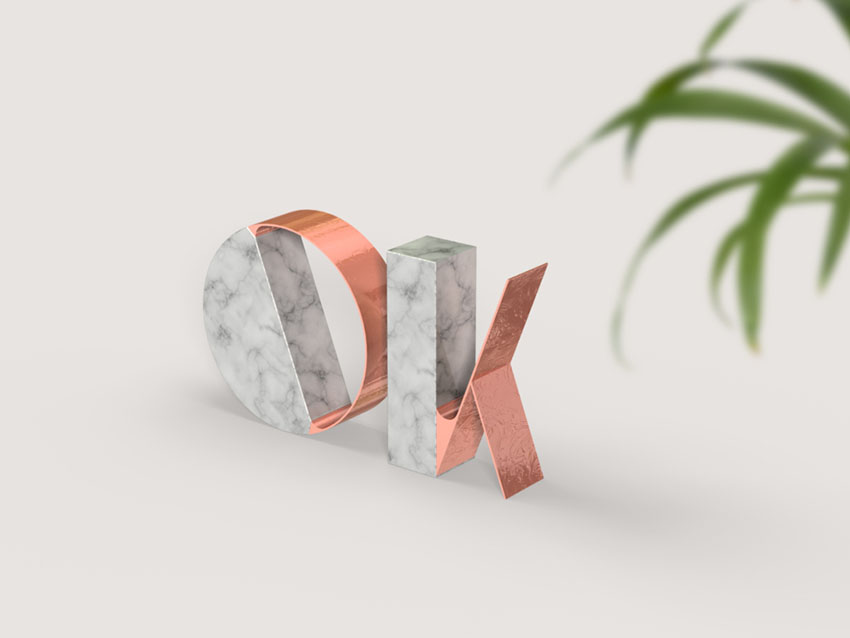 How To Create A Trendy Marble And Rose Gold Text Effect In Adobe