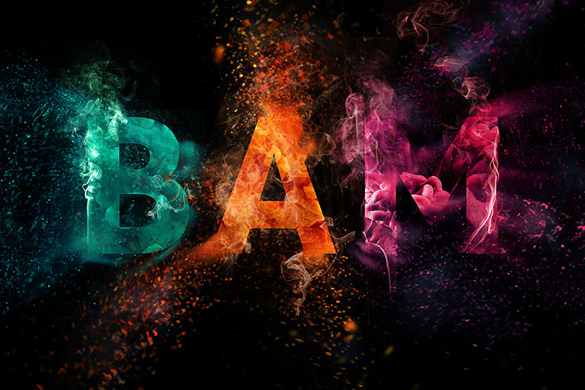How To Create A Colorful Explosion Text Effect In Adobe