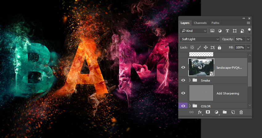 How to Create a Colorful Explosion Text Effect in Adobe Photoshop