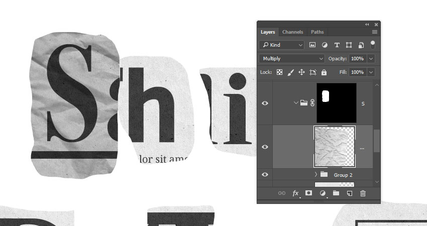 How to Create a Newspaper Ransom Note Text Effect in Adobe Photoshop