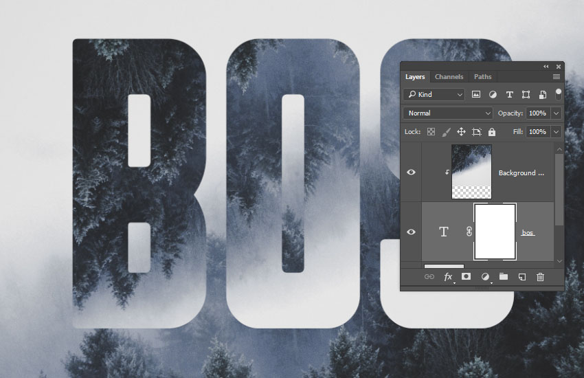 How to Create a Quick Mirrored Landscape Text Effect in Adobe Photoshop