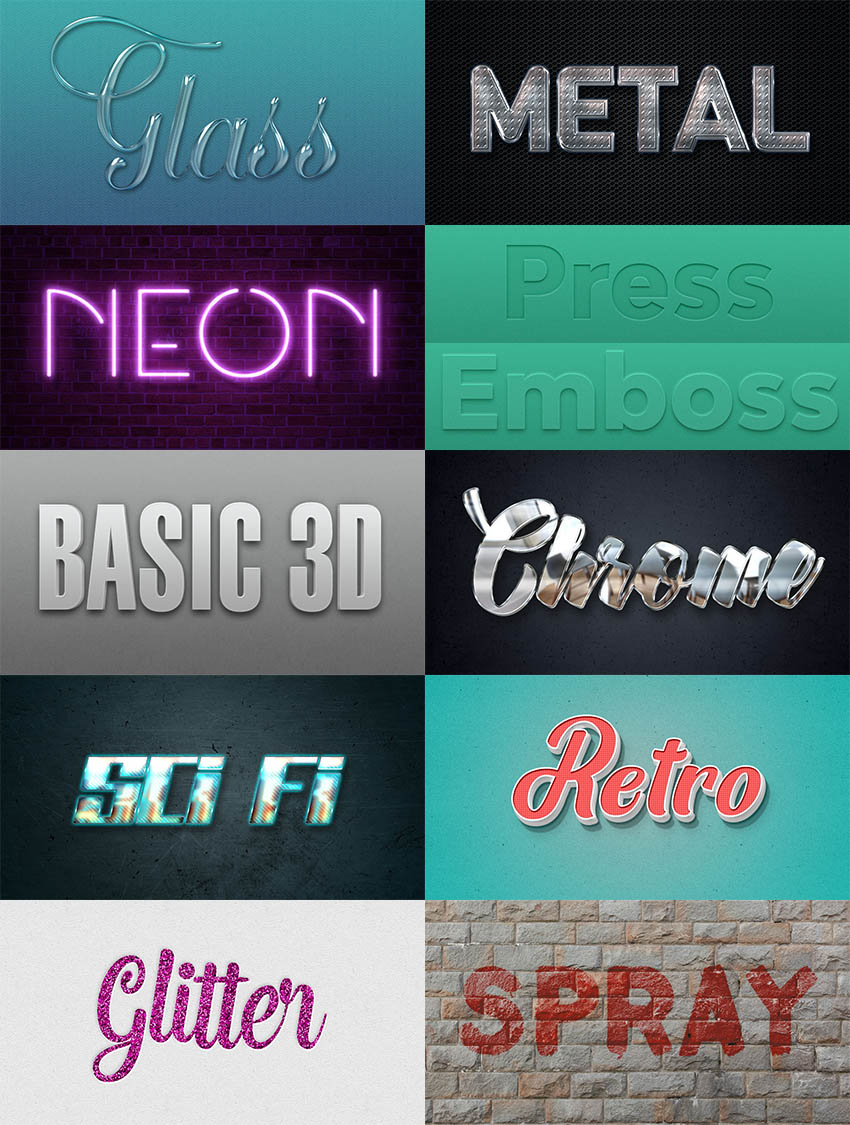 How to Create 10 Different Useful Layer Style Text Effects in Adobe Photoshop