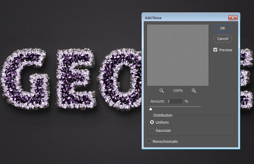 How to Create an Amethyst Geode Inspired Text Effect in Adobe Photoshop