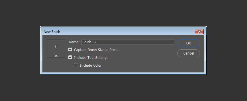 how to create a new brush in photoshop