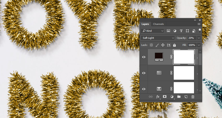 How to Create a Shiny Tinsel Text Effect in Adobe Photoshop
