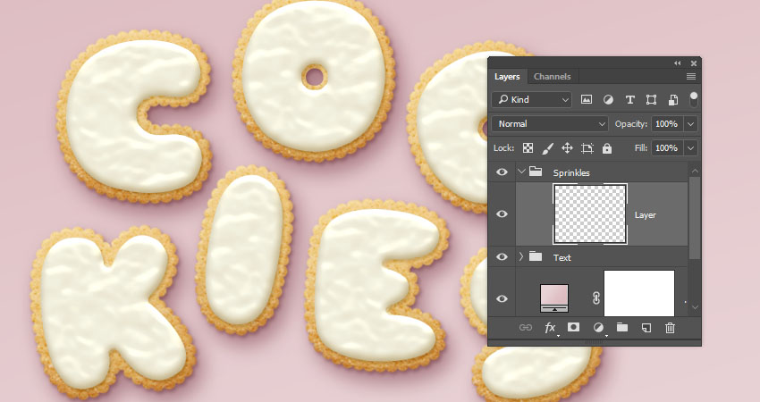 How to Create a Glazed Cookie Text Effect in Adobe Photoshop