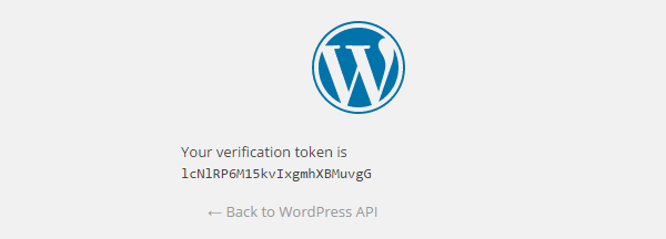 Verification token