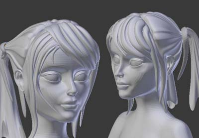 Preview for Female Character Modeling in Blender: Part 5