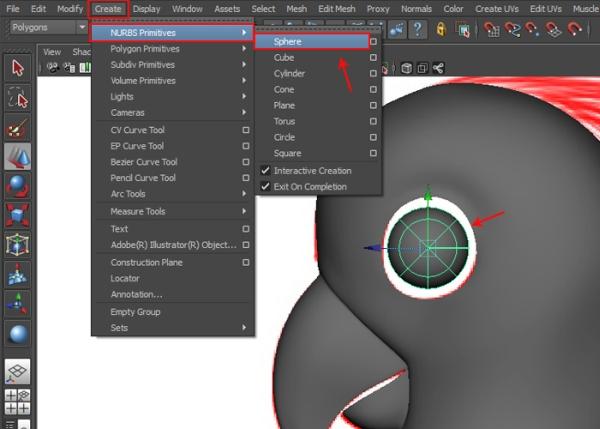 Making Sphere for Eye Shape