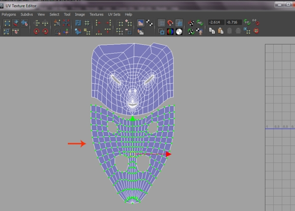 Selecting Body and Head UVs