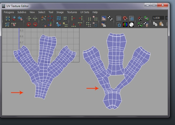 Final Unwrapped Claws UVs