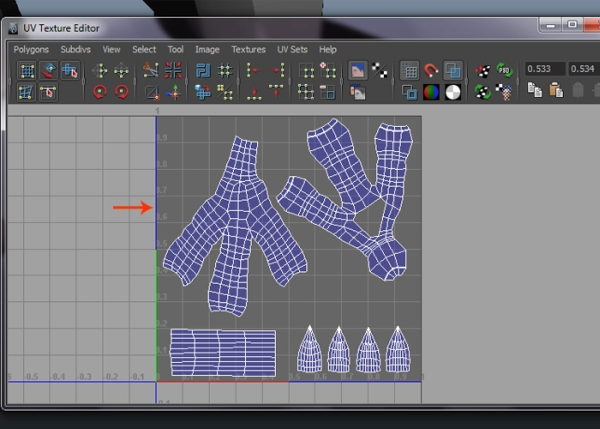 Arranging the Claw and Nails UVs