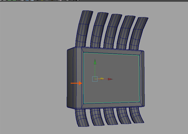 Add details to make the door of control box