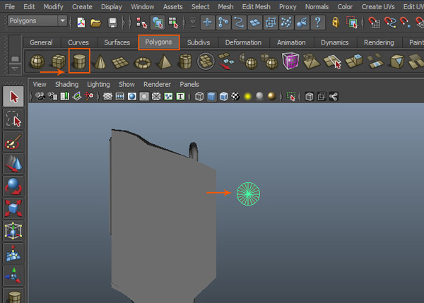 Create a polygon cylinder