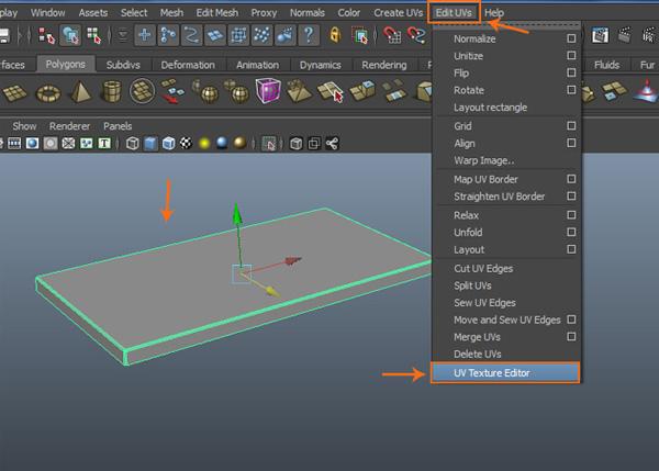 Edit UVs  UV Texture Editor