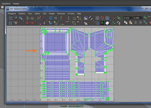 Scale down the UVs and fit them inside the layout area