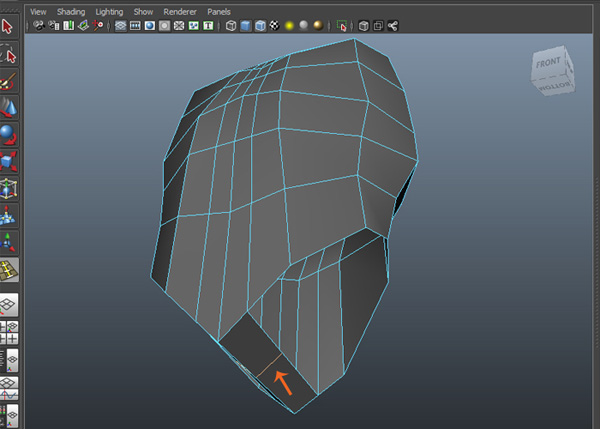 Edit Mesh  Insert Edge Loop Tool