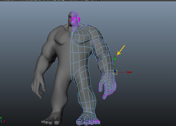 Edit the arm vertices
