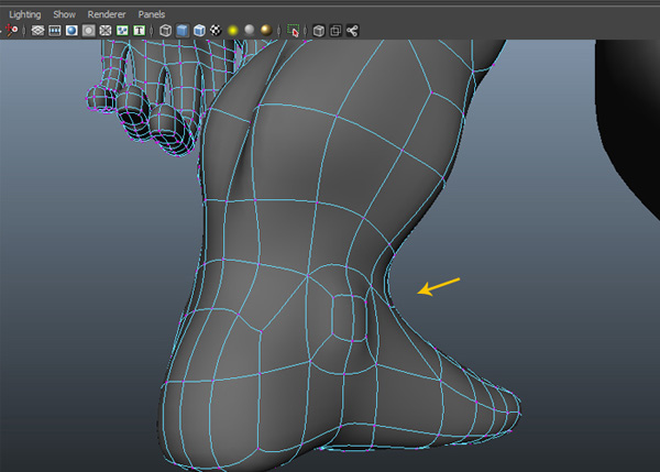 Adjust the vertices of the ankle