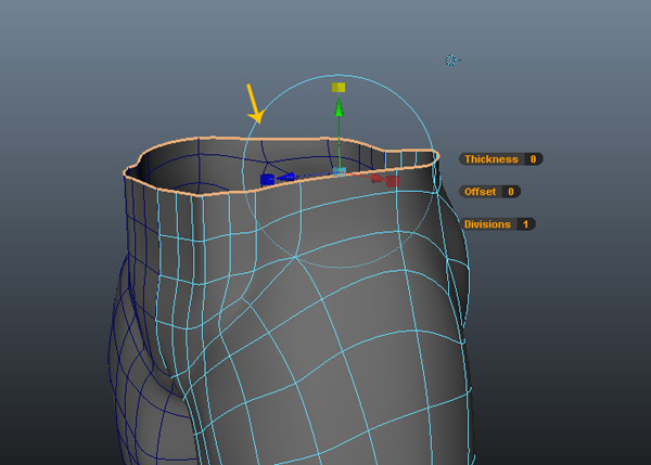 Adjust the front vertices