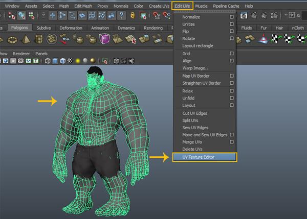 Edit Mesh  UV Texture Editor