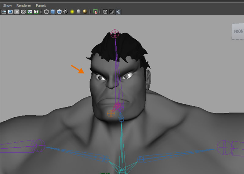 Rigging of Hulk: Part 2