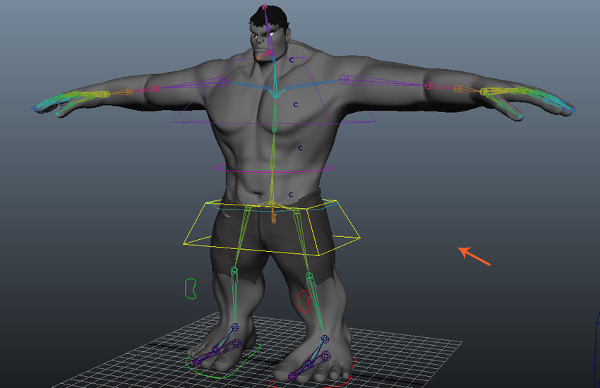 Upper torso rigging is completed