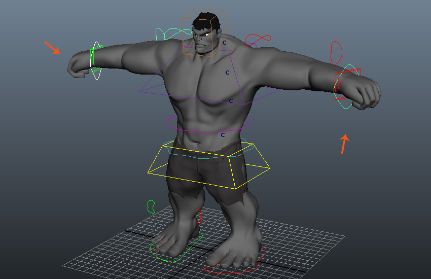 Rigging of Hulk: Part 6
