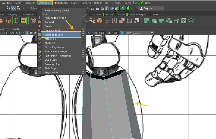 Mesh Tool  Insert Edge Loop