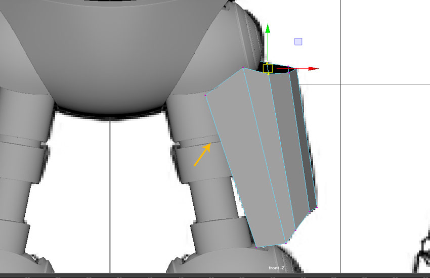 Edit the vertices of the mesh