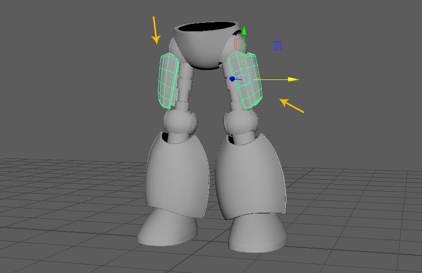 In this way the modeling of both legs has been completed