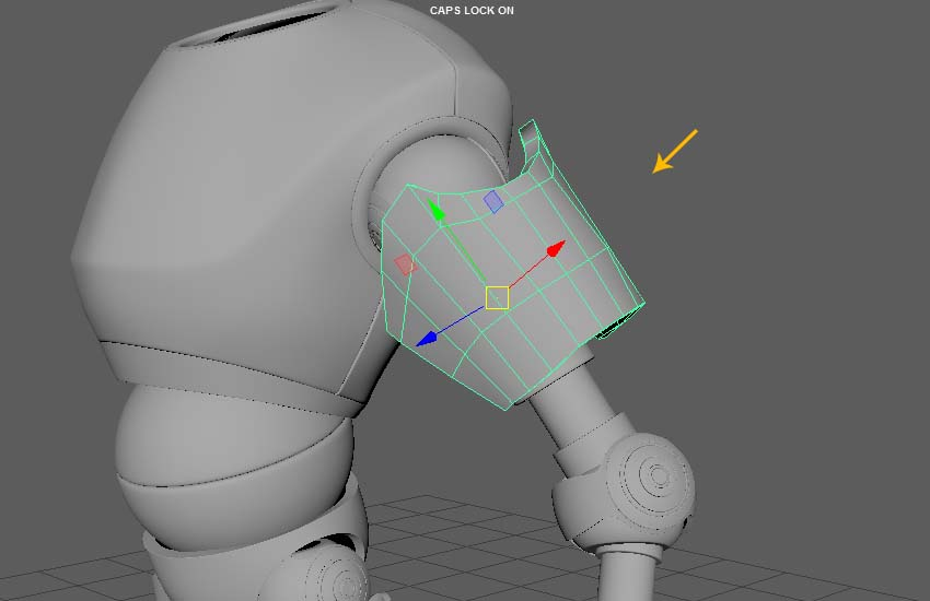 Edit and reshape the arm shield